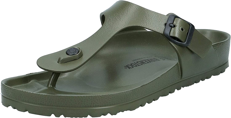 BIRKENSTOCK Essentials Unisex Gizeh EVA Sandals Khaki 45 R EU (US Men's 12-12.5)