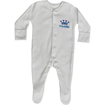 Baby Boy s Personalised Prince Crown Sleepsuit   Hat Gift Set (0-3 Months b975b15e22b