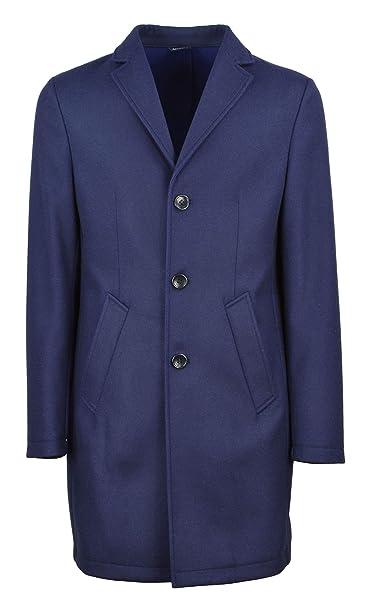 DANIELE ALESSANDRINI GREY uomo cappotto blu T444N7873806