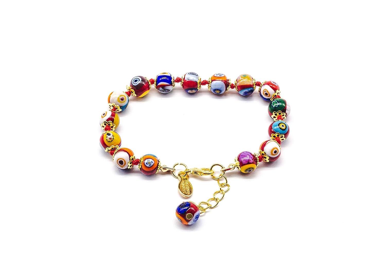 Murano Glass Millefiori Red Bracelet