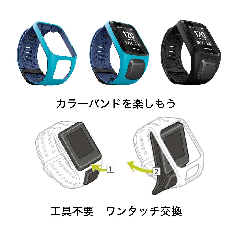 TomTom - Bracelet pour Montre TomTom RUNNER 3, SPARK 3, RUNNER 2 & SPARK: Amazon.fr: High-tech
