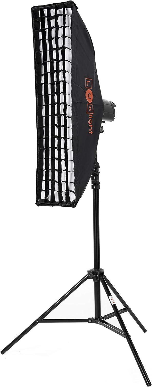 22 x 90 cm, Bowens Bowens Fit Flash Strobe Monolight Strip Softbox difusor Plata Pro fotograf/ía Rim Light Fotograf/ía Estudio Stripbox /& Honeycomba Grid 22 x 90 cm
