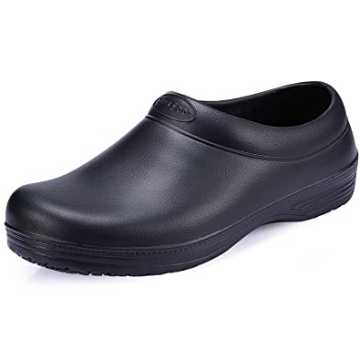 SensFoot Non Slip Work Shoes Unisex Slip Resistant Chef Shoes Slip On (5.5  M US