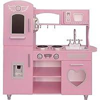 Kids House Cocina de Madera Deluxe Vintage, Pink