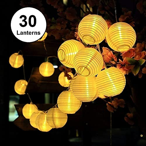 Bon Solar LED Lanterns String Lights, ALED LIGHT 21.3Ft 6.5M 30 LED Waterproof  Outdoor