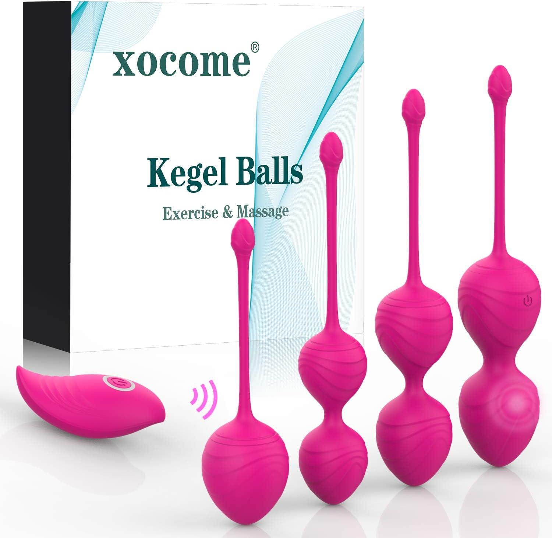 Apriete las bolas de Kegel - 3 juegos de pesas de bolas de Kegel para el entrenador de Kegel - Recomendado por médicos para mujeres y niñas Control de la vejiga y suelo pélvico