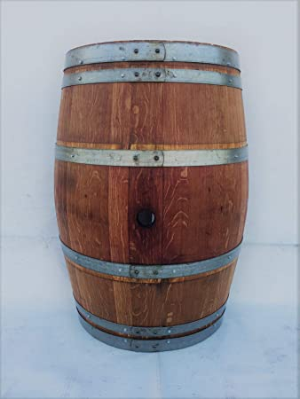 Amazon Com Real Half Wine Barrel Stand Or Planter Clean Oak