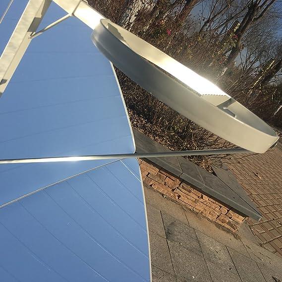 TTLIFE Cocina Solar parabólica Portátil DE 1,5 m de Diámetro y 1800 W con Mayor eficiencia, Estufa Solar, Horno Solar, Parrilla para Uso Familiar, ...