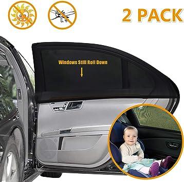 Parasol De Coche Para las Ventanas de los niños Pack 2 Protección Solar Viaje