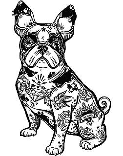 Pegatinas Coche Bulldog Francés Tatuado 13 x 20 cm | Adhesivo de ...