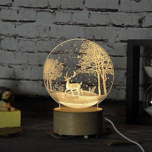 Lamparita de noche, de mesa, creativa, 3D, 5 W, para dormitorio ...