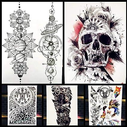 Tatuajes Temporales Gran Arte Corporal Mangas del Brazo Etiqueta ...