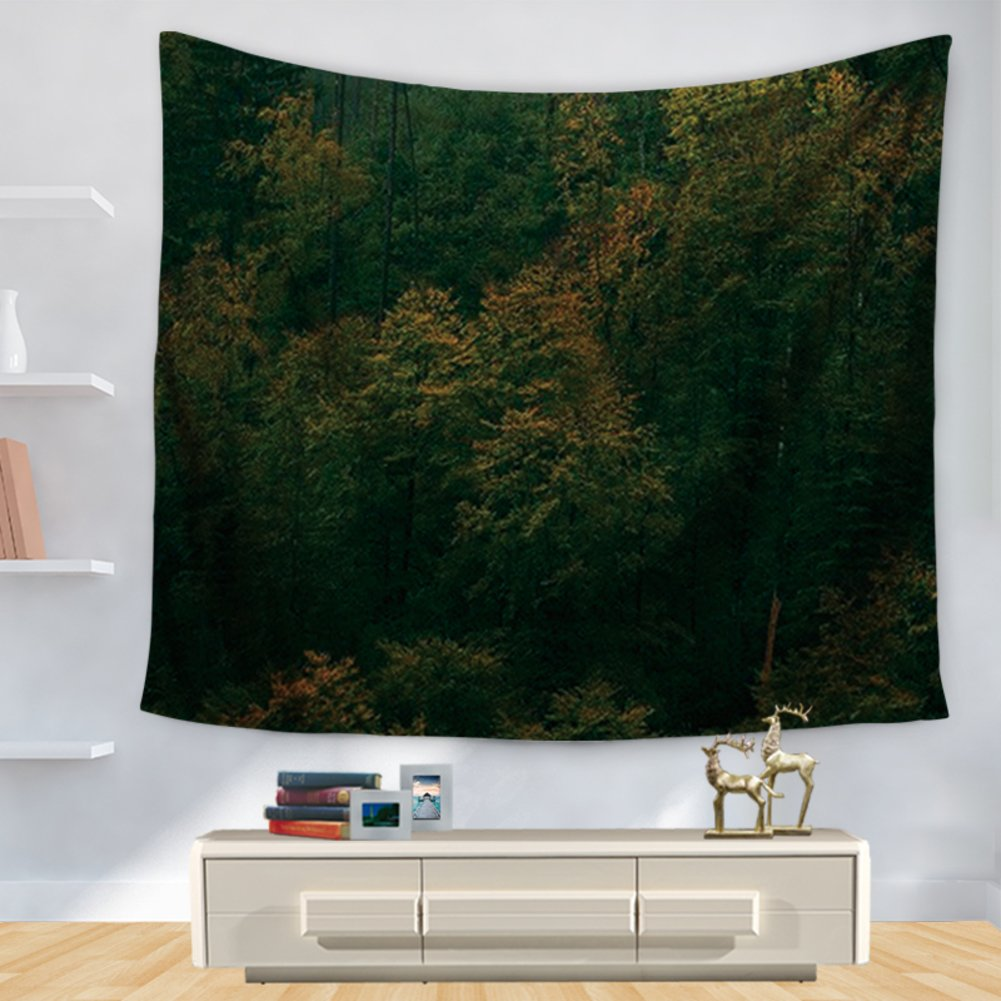 Tapestry Personalized forest printed wall Decorative beach carpet-B 150cm130cm
