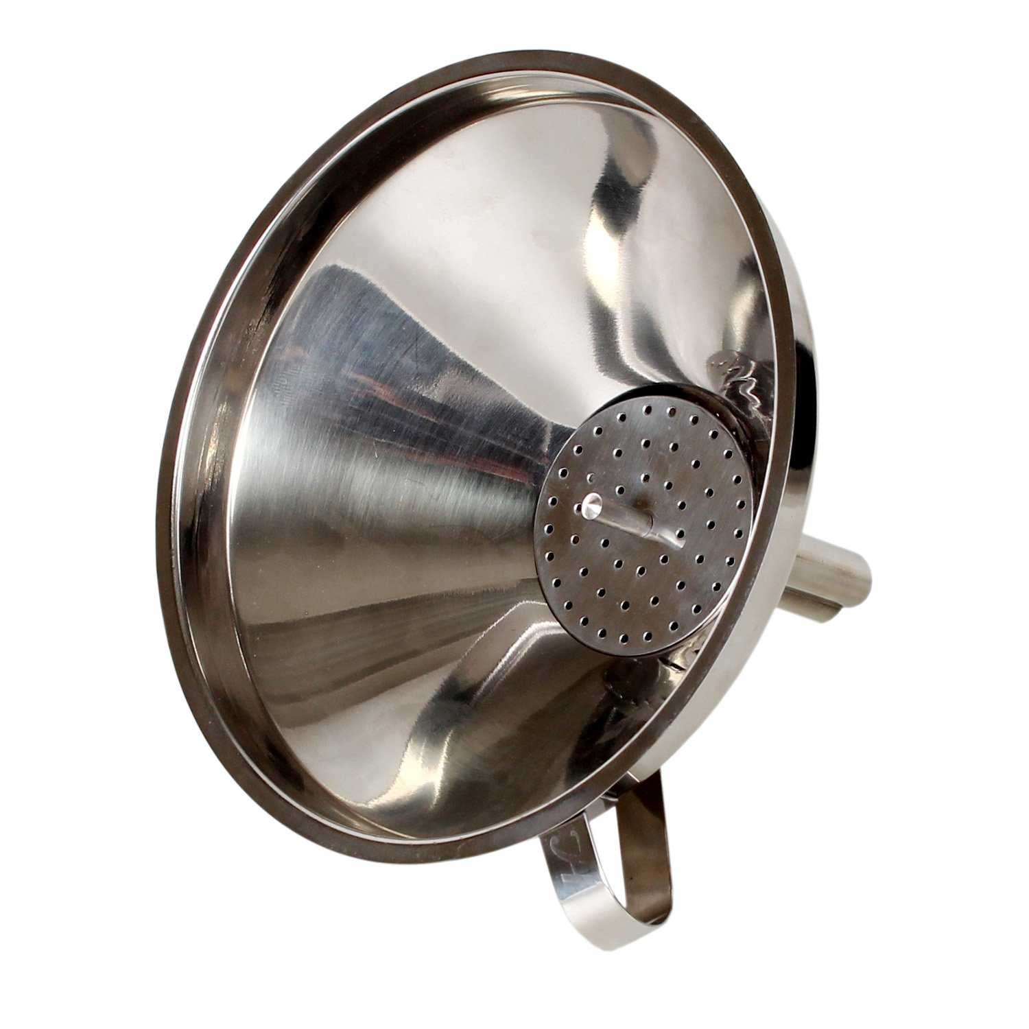 6 6 Excellante 849851007864 Stainless Steel Funnel with Removable Strainer