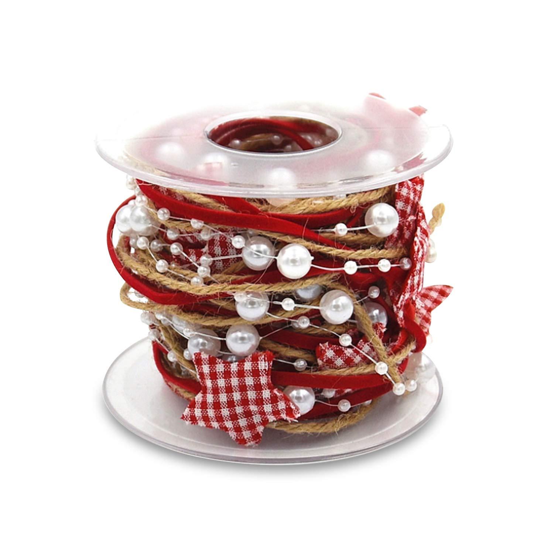 con lentejuelas cinta de copo de nieve con purpurina para decoraci/ón de Navidad papel de regalo Dorado. bricolaje Lazos de Navidad de Florvine