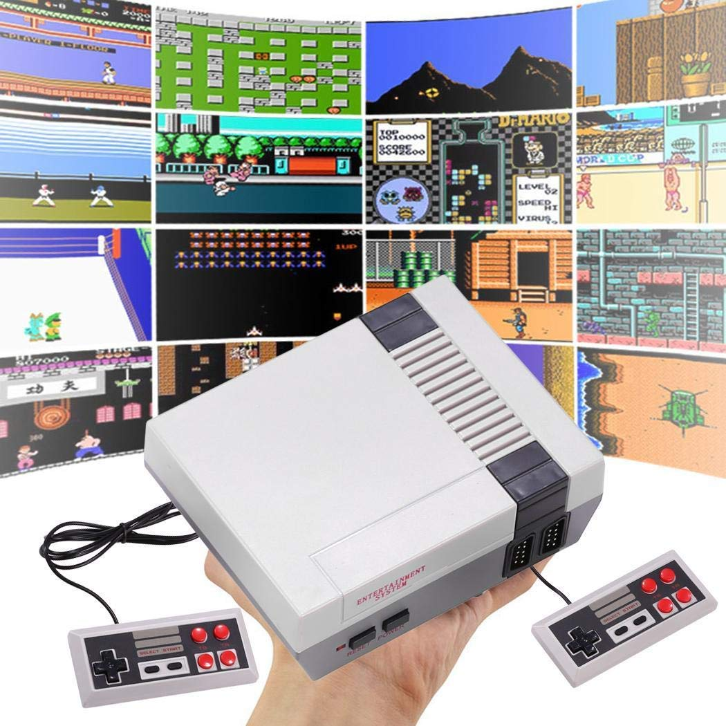 Detailorpin Built in 620 Games Recreation Retro Built-in Classic Games Dual Gamepad Gaming Player (US 4 Buttons)