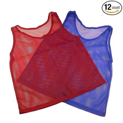 305cf8f9c4e Amazon.com : Nylon Mesh Scrimmage Jerseys 12 pcs : Sports & Outdoors