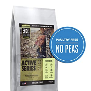 Active Series Tracking Dog Buffalo Formula, Peas and Poultry Free Dry Dog Food, 30 lb. bag