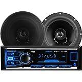 BOSS Audio 638BCK Single Din, Bluetooth, MP3/USB/SD AM/FM Car Stereo, Wireless Remote, 6.5 Inch 2 Way Full Range Speaker Package