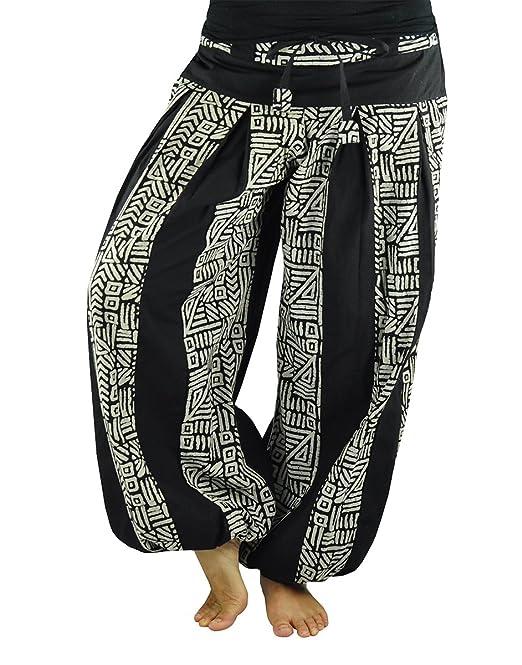13edce210a9d virblatt pantaloni alla turca stile harem con cavallo alto per la donna  taglia unica che veste