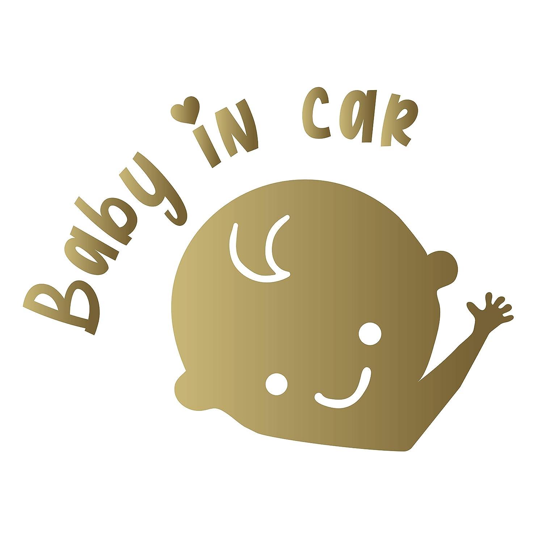 Autoaufkleber und Motorradzubeh/ör 9,7 cm x 10,5 cm Child In Car Baby On Board Vinyl-Aufkleber