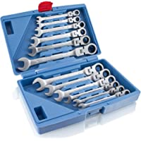 12piezas de llaves de trinquete con articulación Bituxx®.