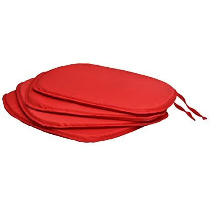Beautissu Set 4 Cojines para sillas Almohada Lara Coloridos Vivienda o terraza 38 x 38 x 1,5 cm Rojo