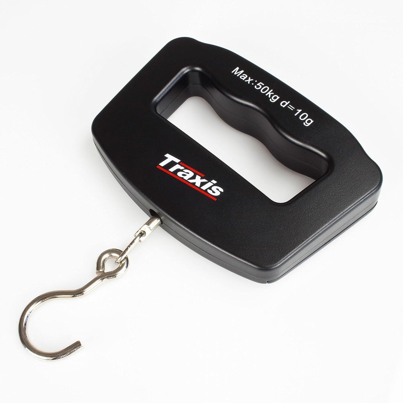 TraxisDigitale Koffer- und Fischwaage bis 50 Kg inklusive Batterie