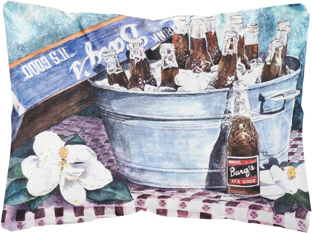 Caroline's Treasures 1003PW1216 Barq's and Old Washtub Decorative Canvas Fabric Pillow, 12H x16W, Multicolor