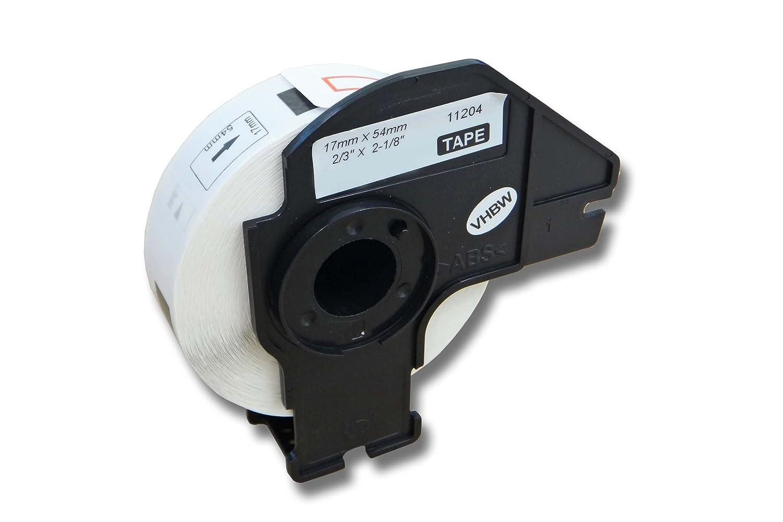 vhbw Etikettenband Beschriftungsband Premium 17mm für Brother P-Touch QL-720, QL-720NW, QL-1050, QL-1050N, QL-1060, QL-1060N wie DK-11204.