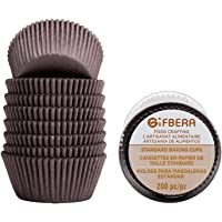 Gifbera Swedish Paper Baking Cups Brown Standard Cupcake Liners 200-Count, Coffee Color