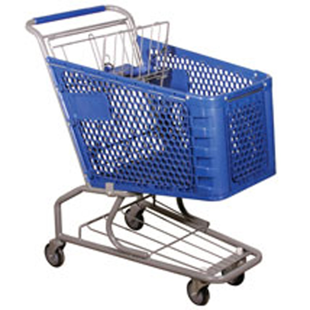 Shopping Cart Plastic Basket Super Market Convenience Store Blue Lot of 6 NEW