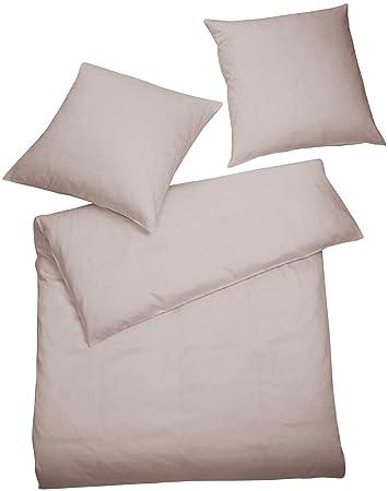 Carpe Sonno Elegante Jersey Bettwasche 155 X 220 Cm Einfarbig Kiesel