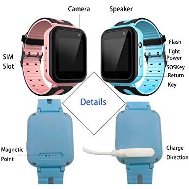 Amazon.com: Waterproof Kids Smart Watch for Girls Boys - IP67 Waterproof Children Smartwatch with GPS/LBS Tracker SOS Camera Anti-Lost for Summer Outdoor ...