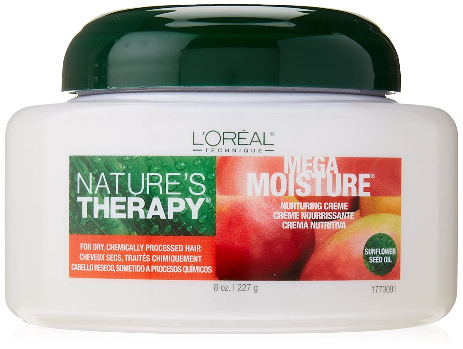 Amazon.com : LOreal Natures Therapy Mega Moisture Nurturing Creme, 8 Ounce : Standard Hair Conditioners : Beauty