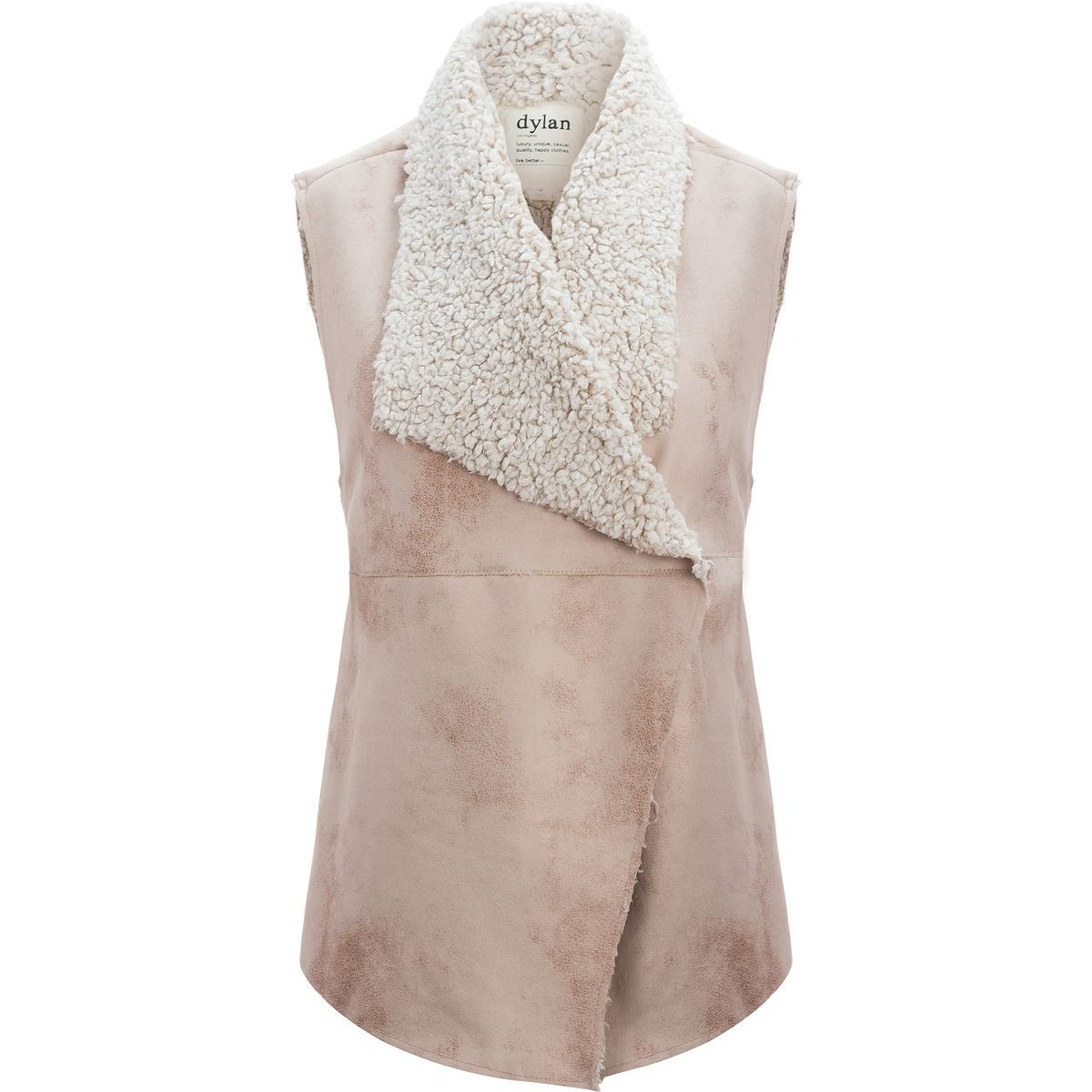 Dylan Frosty Tipped Shearling Snap Vest - Women's Natural, S