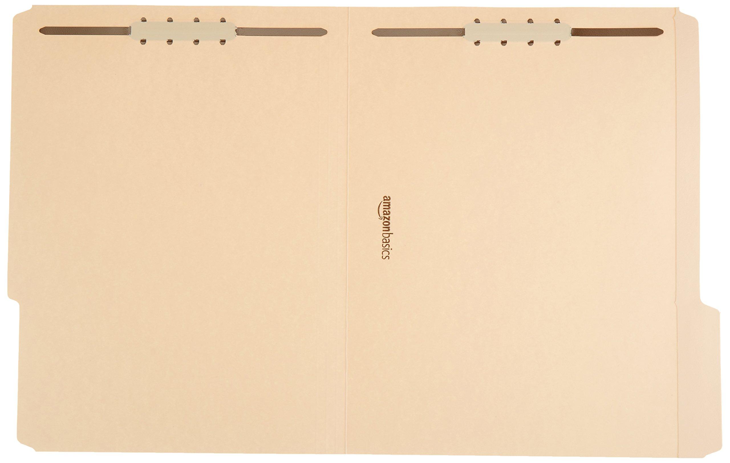 AmazonBasics Manila File Folders with Fasteners - Letter Size, 100-Pack by AmazonBasics (Image #2)