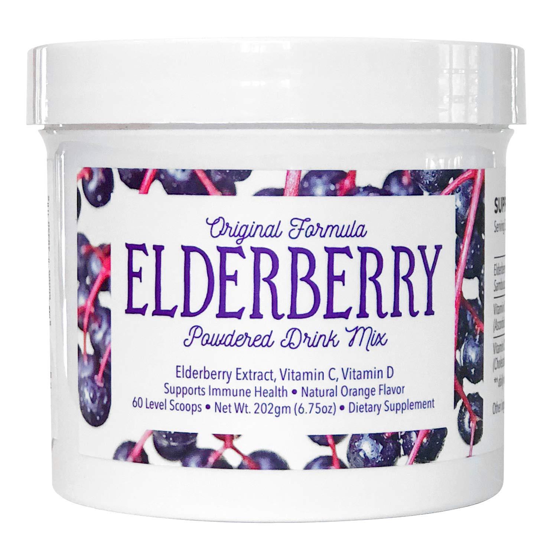 Elderberry Powdered Drink Mix - Superfood •Antioxidant • Vitamin C • Vitamin D