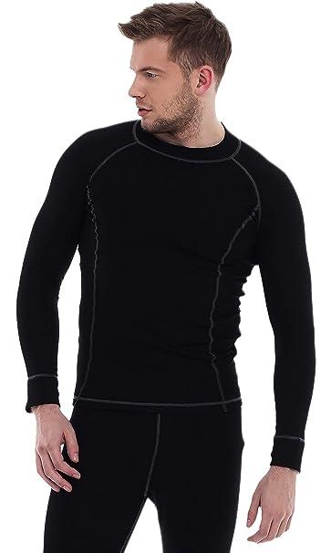 566646bacfd3 Ropa Interior Deportiva Conjunto Camiseta Manga Larga para Hombre ...