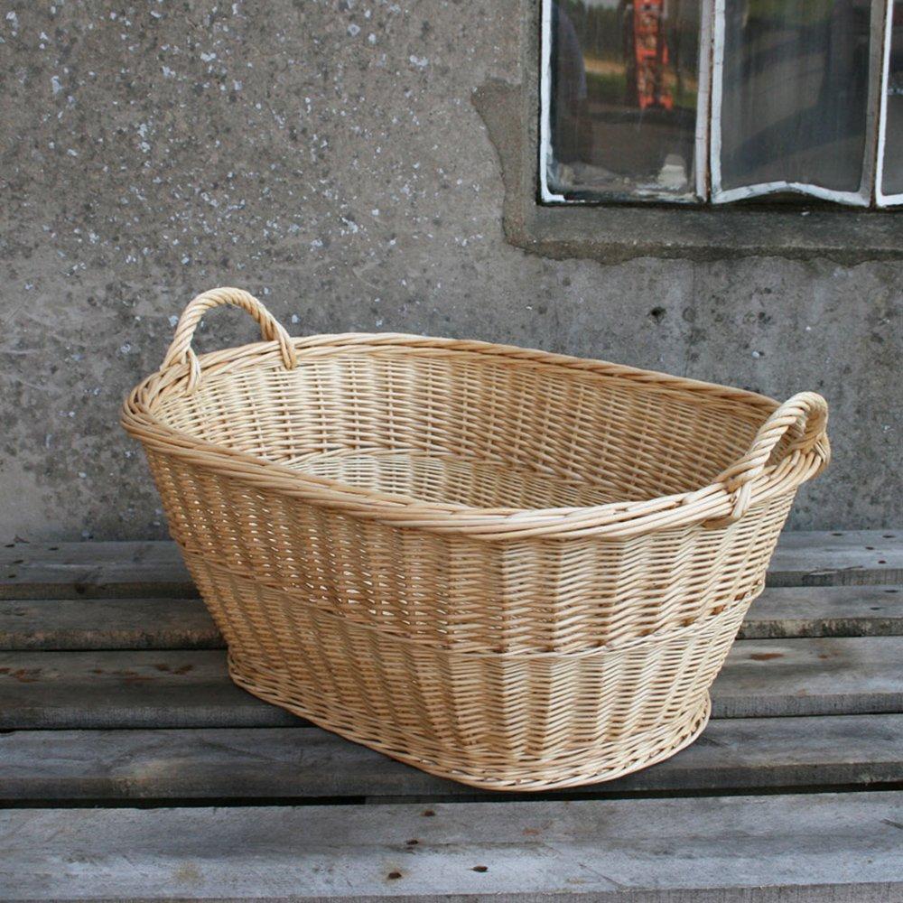 Wäschekorb oval 60 cm - Weiße natur
