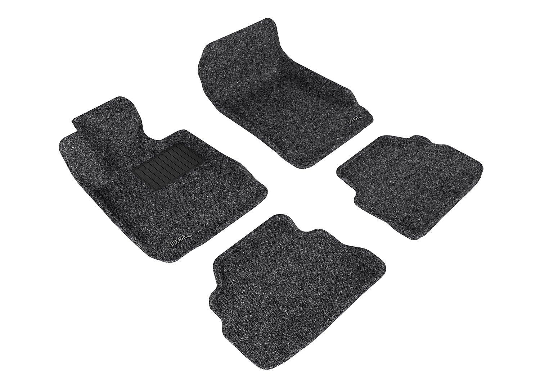 L1BM02522202 3D MAXpider Second Row Custom Fit Floor Mat for Select BMW 3 Series Models Tan Classic Carpet