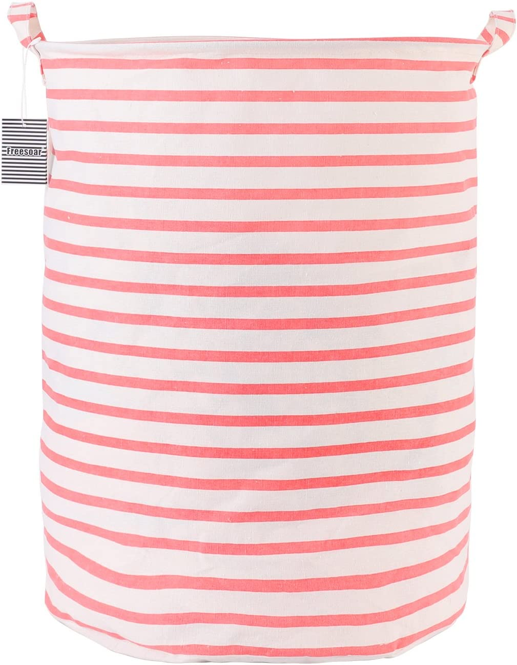 Laundry Basket Hamper Bag Large Foldable Collapsible Accessories Drawstring Waterproof Cotton Space Saving Storage Organizer Perfect for Kids Boys Girls Toys Room, Bedroom, Nursery,Home(Red)