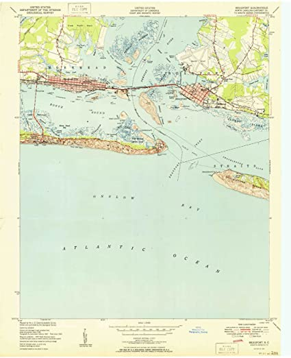 Amazon Com Yellowmaps Beaufort Nc Topo Map 1 24000 Scale 7 5 X