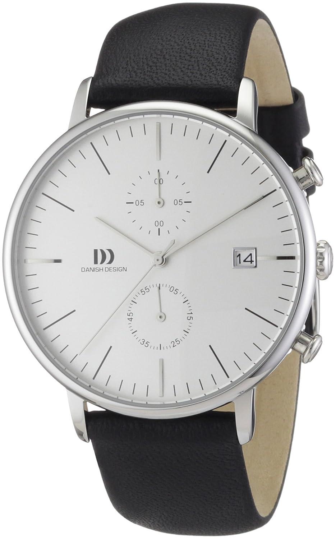 Danish Design 3314400 - Reloj analógico de cuarzo para hombre con correa de piel, color negro