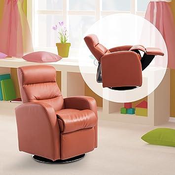 Homcom Brique Inclinable Enfants De Partir À Fauteuil 3 Ans Grand Confort Pour Design Contemporain Orange R5AjL4