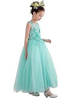 c9dadbdf3b234  eones ドレス 子供 フォーマルドレス ロングドレス 女の子 ミントグリーン 花刺繍 花柄