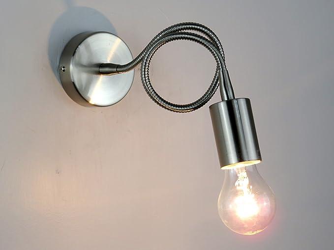 Lampada parete applique flessibile e27 moderno illuminazione interni