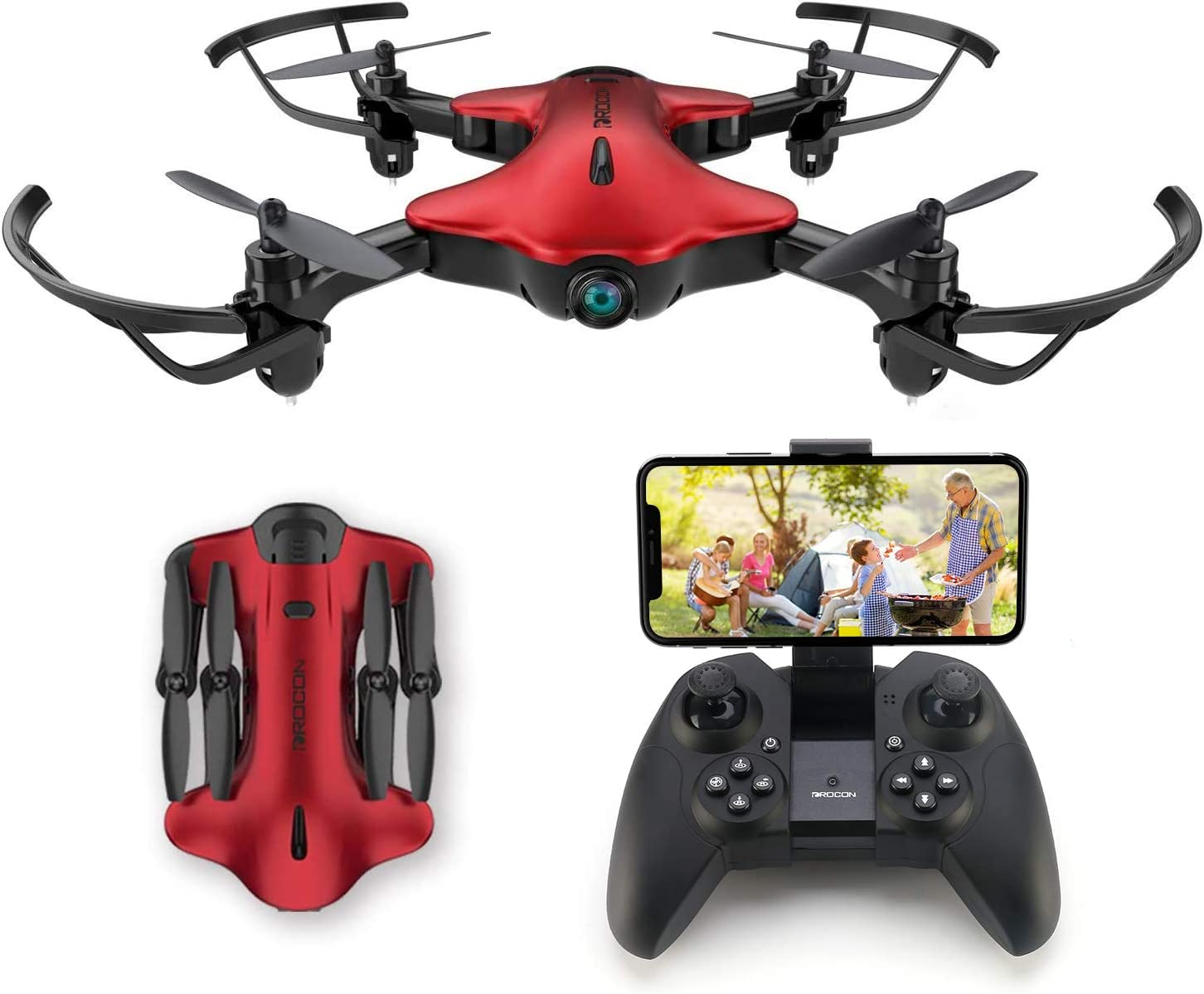 Drone for Kids, Spacekey FPV Wi-Fi Drone with Camera 720P HD, Real-time Video Feed, Great Drone for Beginners, Quadcopter Drone...