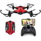 Drone for Kids, Spacekey FPV Wi-Fi Drone with Camera 1080P FHD, Real-time Video Feed, Great Drone for Beginners, Quadcopter D