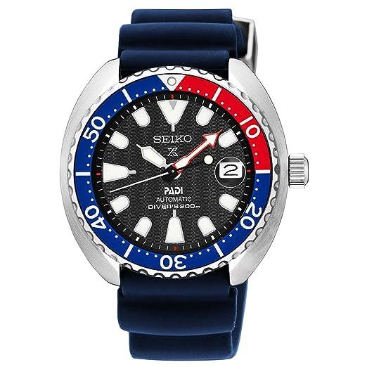 Seiko SRPC41J1 - Reloj analógico automático para hombre, 42 mm, correa de silicona, color azul: Amazon.es: Relojes